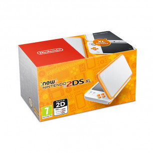 New Nintendo 2DS XL White X Orange
