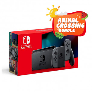 New Nintendo Switch Gray - Animal Crossing Bundle