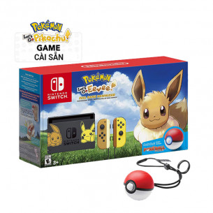 Nintendo Switch Let's Go Eevee + Pokeball Plus Limited Edition