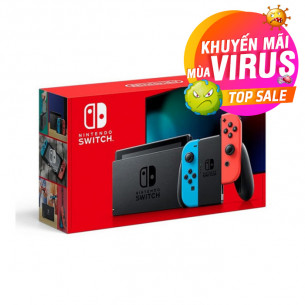 New Nintendo Switch with Neon Red Blue Joy‑Con