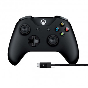 Xbox One S Wireless Controller with Cable - Black