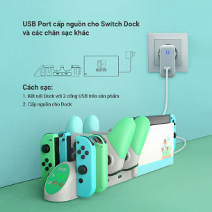 IPega 6 In 1 Desktop Charging Base Station For Nintendo Switch Joy-Con PG-9187A