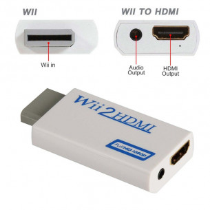 Adapter for Nintendo Wii to HDMI